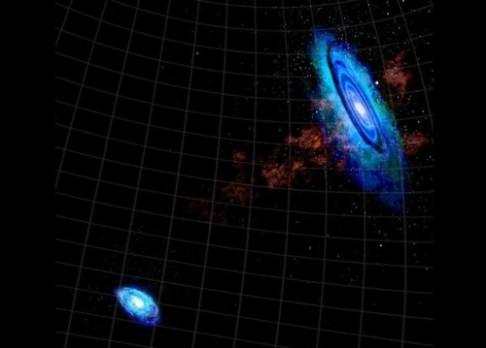 Vesmírem teče řeka vodíku