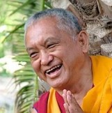 Lama Zopa laughing square