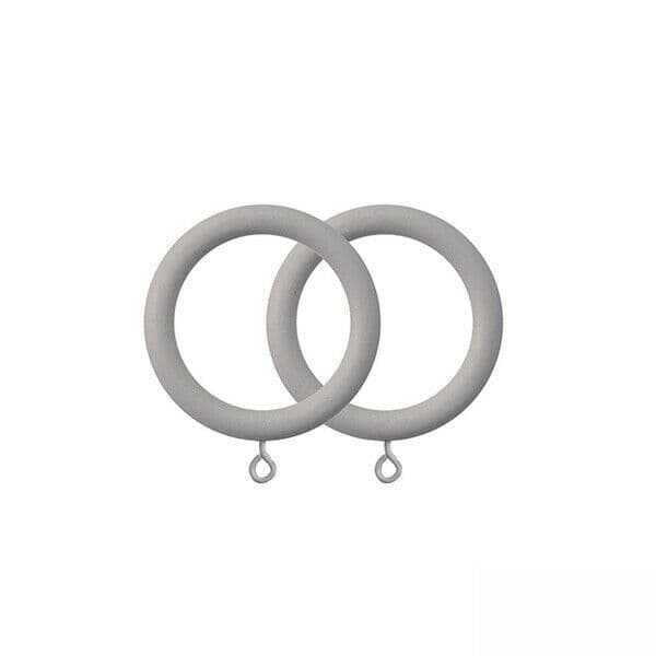 2 wooden curtain rings for 25 35mm poles grey clay sea shore hook pole rings