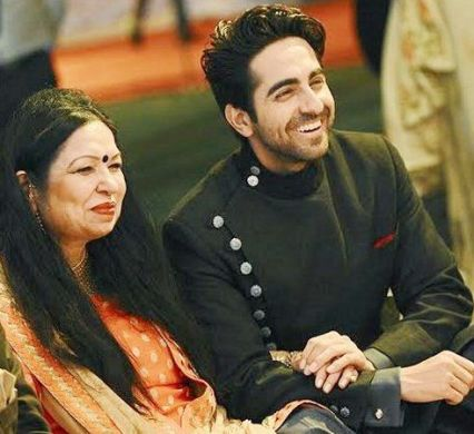 Ayushmann Khurrana with his mother