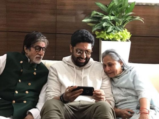 Abhishek Bachchan with his Mother and father
