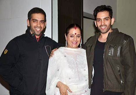 Poonam Sinha with her sons