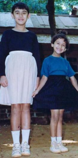 Nikita Dutta With Her Elder Sister As A Child