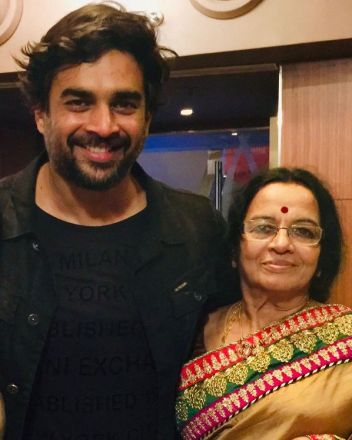 R. Madhavan with his mother