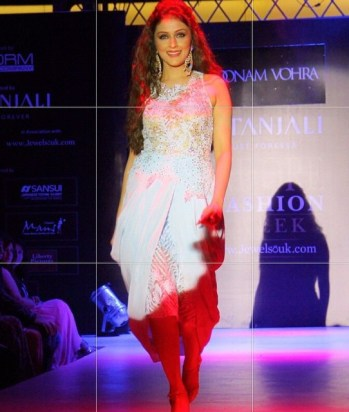 Aarti Chabria walking the ramp for Indore Fashion Week