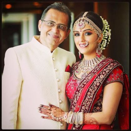 Aarti Chabria with her father