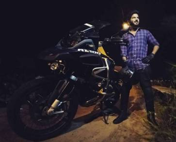 Dulquer Salmaan with his bike