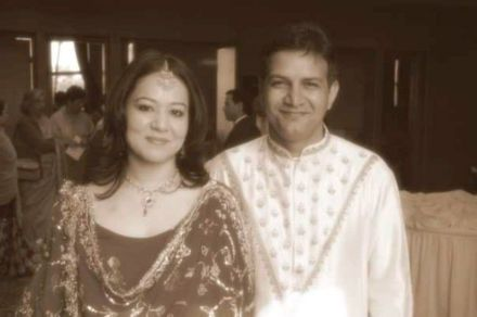 Kumud Mishra with His Wife
