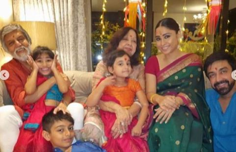 Ashish Chowdhry with his family