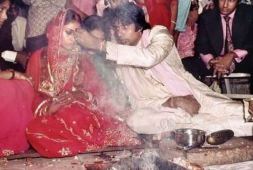 Marriage Picture of Jaya Bachchan and Amitabh Bachchan