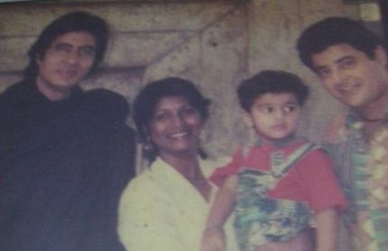 An Old Picture of Habiba Rehman With Her Family and Amitabh Bachchan