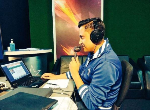 Anant Tyagi doing commentary for ISL 2017