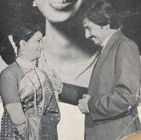 An old picture of Bharati Achrekar in a theatre play