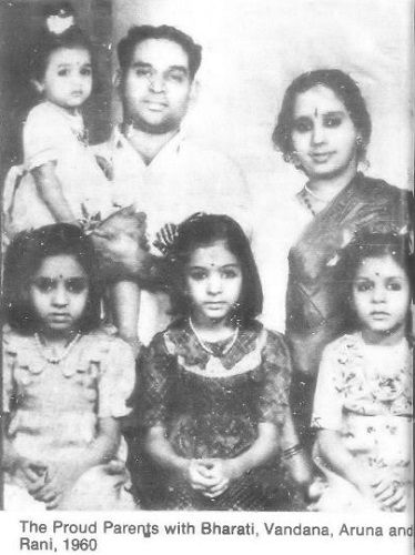 Bharati Achrekar's childhood picture with her family