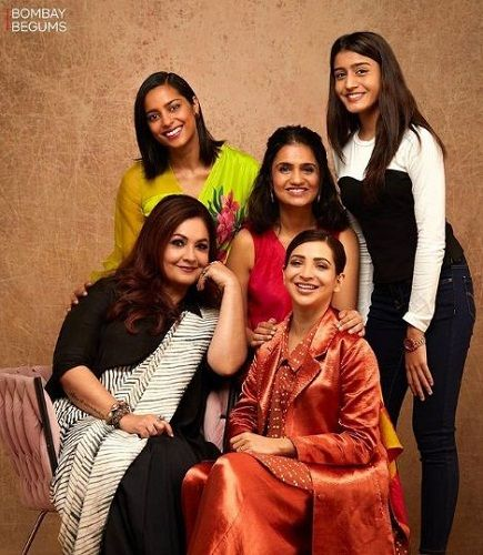 Pooja Bhatt with her co-stars in Bombay Begums