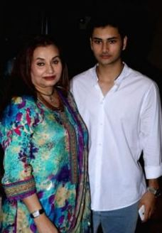 Salma Agha with her son