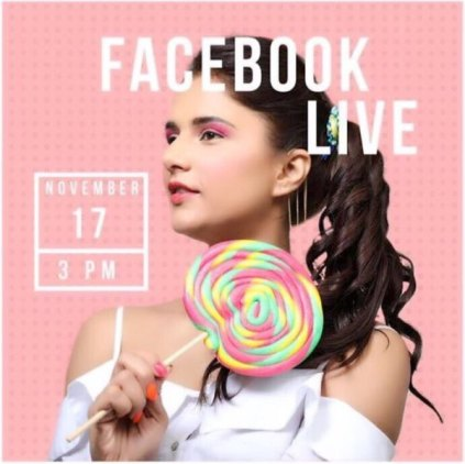 Shipra on a live discussion on Facebook