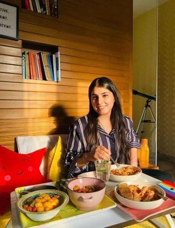 Chetna Sharma loves eating different dishes