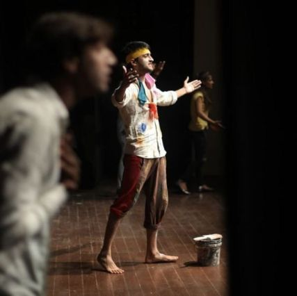 Rajat Verma performing for a theater play