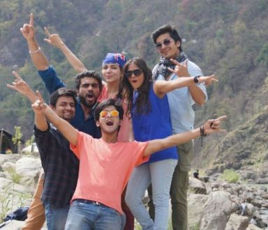 Rajat Verma with his friends