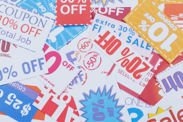 photo shows coupons