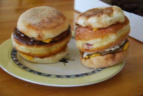 The Sausage McStuffin' Sausage McMuffins with jelly donuts inside. (Submitted by Eric Kohm and Pawel Sasik)