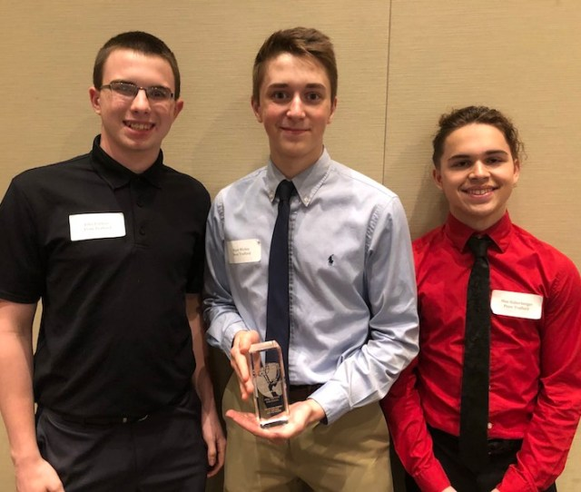 Penn Trafford Students John Robbins Ryan Mickey Max Haberberger Received The Natas Light News Award For Their Make A Wish Fundraising Coverage
