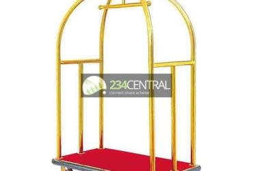 Gold color luggage cart