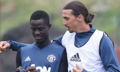 Zlatan Ibrahimovic and Eric Bailly