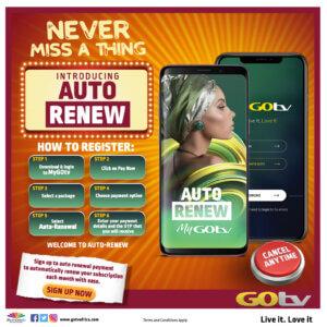 Auto Renewal - Payment GOtv