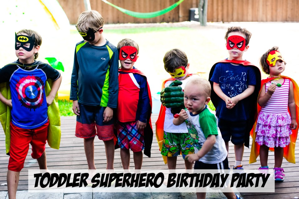 toddler superhero birthday party 4 year old