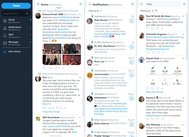 Top Four social listening tools for 2020 and why they're great - Tweet Deck