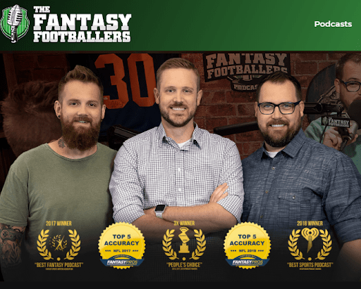 Podcasting example fantasy foot ballers