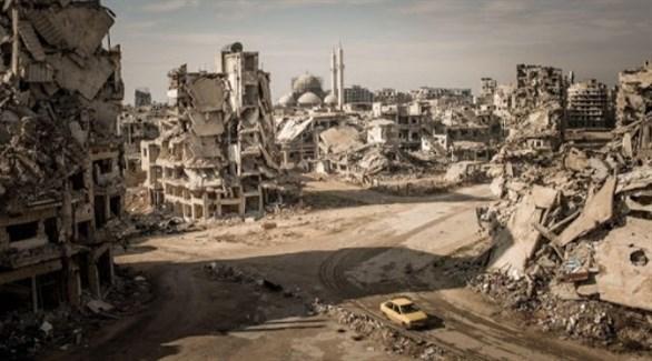 آثار الدمار في حماة السورية (أرشيف)