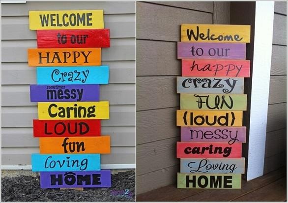 10 أفكار مميزة للافتة ترحيب في واجهة المنزل