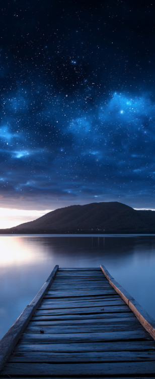 cornersoftheworld:</p> <p>Queens Lake, Australia | By Timothy Poulton</p> <p>When my father used to tell me to take<br /> a long walk on a short pier,<br /> I had a picture like this in mind.<br /> Maybe he wasn't trying to get rid of me,<br /> but pointing me in the right direction.<br /> He was telling me to open my mind<br /> and look out at the water.<br /> He loved the ocean with its changing<br /> moods and colors.<br /> Now when I look out at the ocean, I think of him.