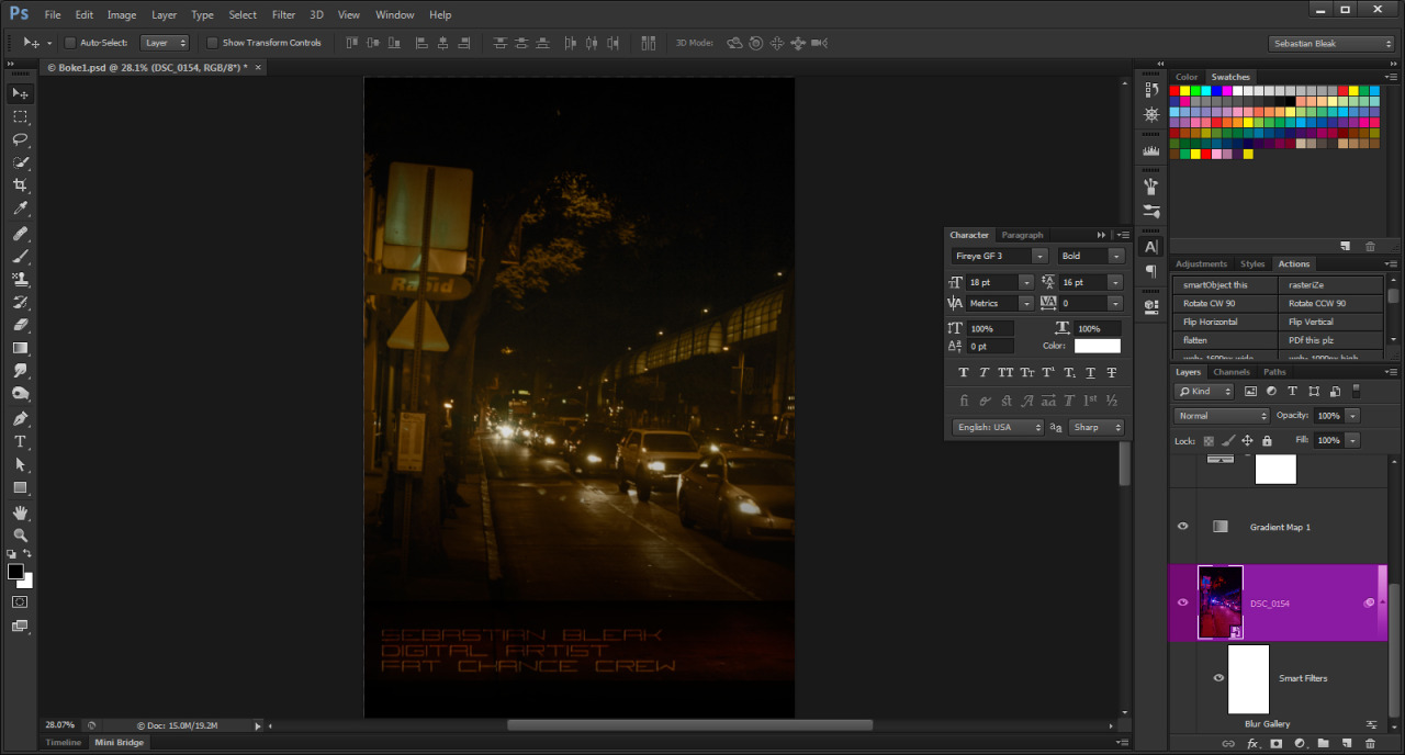 Screen shot of Gradient Mapping