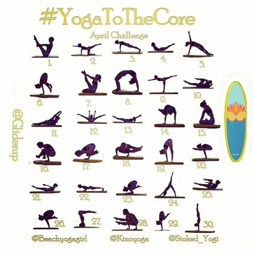 🌟Announcing the #YogatotheCore April Challenge! 🌟<br /><br />  Get ready to rock out your core strength! Get ready to be really strong!<br /><br /> 🌀Your hosts, @beachyogagirl, @kinoyoga, and @stoked_yogi will post their version EACH DAY of the pose adding their own tips, tricks or inspiration to the pose.  🌟prizes!!!<br /><br /> Grand prize @glidesup will be giving away a paddle board to one SUP!<br /><br /> 🌟@miamilifecenter FREE month for local resident<br /><br /> 🌟@bitsybottom shorts<br /><br /> 🌟@lotusjewelrystudio jewelry<br /><br />  🌟@glyderapparel leggings        🌀How to participate:</p><br /> <p>1. Follow @beachyogagirl, @kinoyoga, @stoked_yogi, and @glidesup<br /><br /> 2. Repost challenge collage to your instagram feed<br /><br /> 3. Take a photo or video of the pose each day and post it<br /><br /> 4. Tag #yogatothecore, challenge hosts and @glidesup in your posts<br /><br /> 5. Have fun and connect with other challenge participants<br /><br /> 🙏We are so excited to share our love for Yoga, Pilates, and SUP Yoga with you.  We hope you can join in on the fun!😊<br /><br /> Tag a friend or leave us a comment …. who's in?🙋