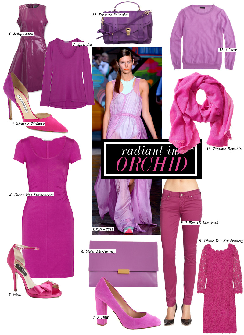Trend Report: Radiant Orchid.Bidding hello to thenew colorof the year! The upbeat infusion of various purple hues as well as girly pink is trending to be the hottest hue to date. Delicate and oh so feminine, the hue of Radiant Orchid bides to be the most complimentary to any piece in your closet and including yourmakeup. Read further onThe Fashionlish