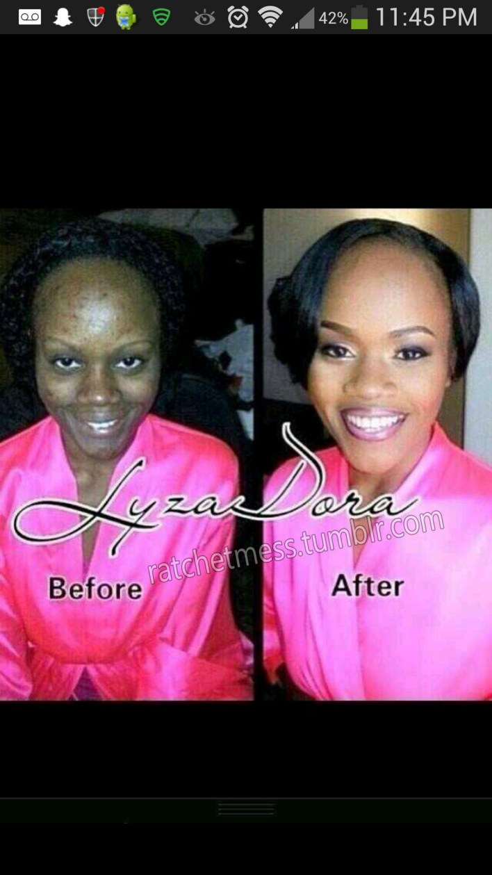 The wonders of makeup, talented.