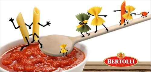 """passtheranch: From Bertolli Germany. Source Barilla isstruggling enough this weekwithout its competitors piling on. But Bertolli doesn't care. Seizing on comments made by Barilla's chairman about how the company would never put gay couples in its advertising, Bertolli Germany quickly postedpro-gay imagery in its social feeds,happily taking advantage of its rival's misstep. """"Love and pasta for all!"""" reads the caption on the Facebook photo above. """"We just wanted to spread the news that Bertolli welcomes everyone, especially those with an empty stomach,"""" a rep for Orca im Hafen, Bertolli's social-media agency in Germany, tells AdFreak. So freaking cute!"""