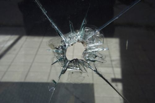 A small hole in glass can become wider over time<br /> if left unattended.<br /> A hole or damage to one's heart can also<br /> leader to further pain if left unattended.