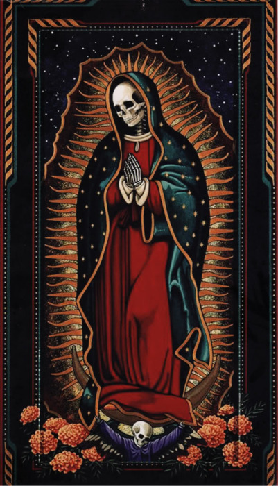 LA SANTA MUERTE  The female grim ripper rears  her ugly head in Oasis.  She was last seen in Mexico,  but she has re-emerged once again.  She is the saint of vengeance.  Her sister saints offer monetary  rewards and promises of love.  But she promises her followers to  provide vengeance for them.  They just have to sacrifice to her.  She stands with her skeleton body,  her crown tilted on side of her skull,  with her stick at her side.  She wants to control Oasis, Florida.  But first she must rid the town of any  other evil.  THE DEAD GAME