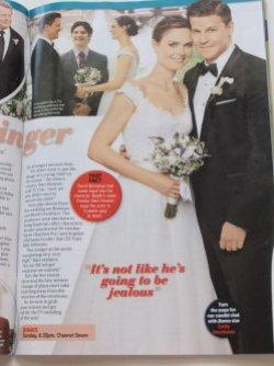 scansione dell'intervista a Emily Deschanel su come si intrecciano la sua vita privata con il matrimonio in Bones