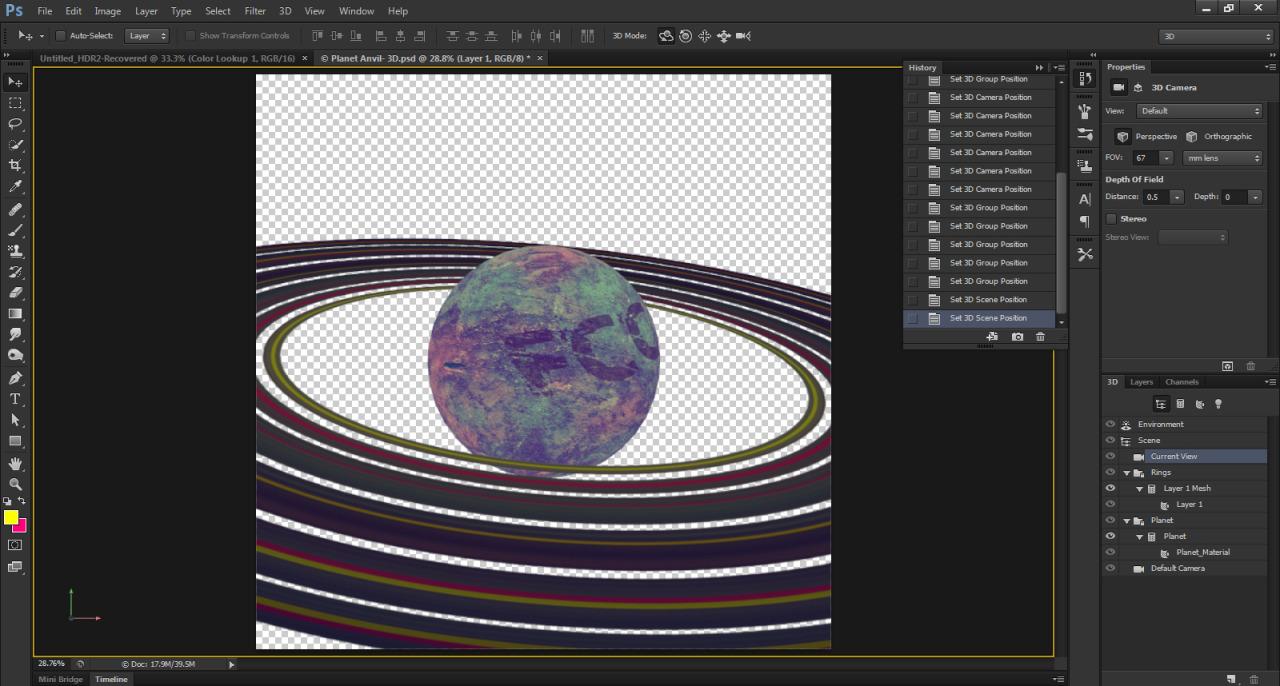 planet rings 3d mesh