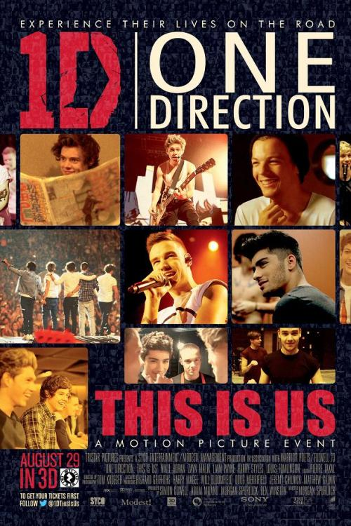 "The One Direction ""This Is Us"" film now has an official poster and here you have it! Make sure you catch the film in 3D in theaters, starting on August 29 and follow your favorite band as they go on the road."