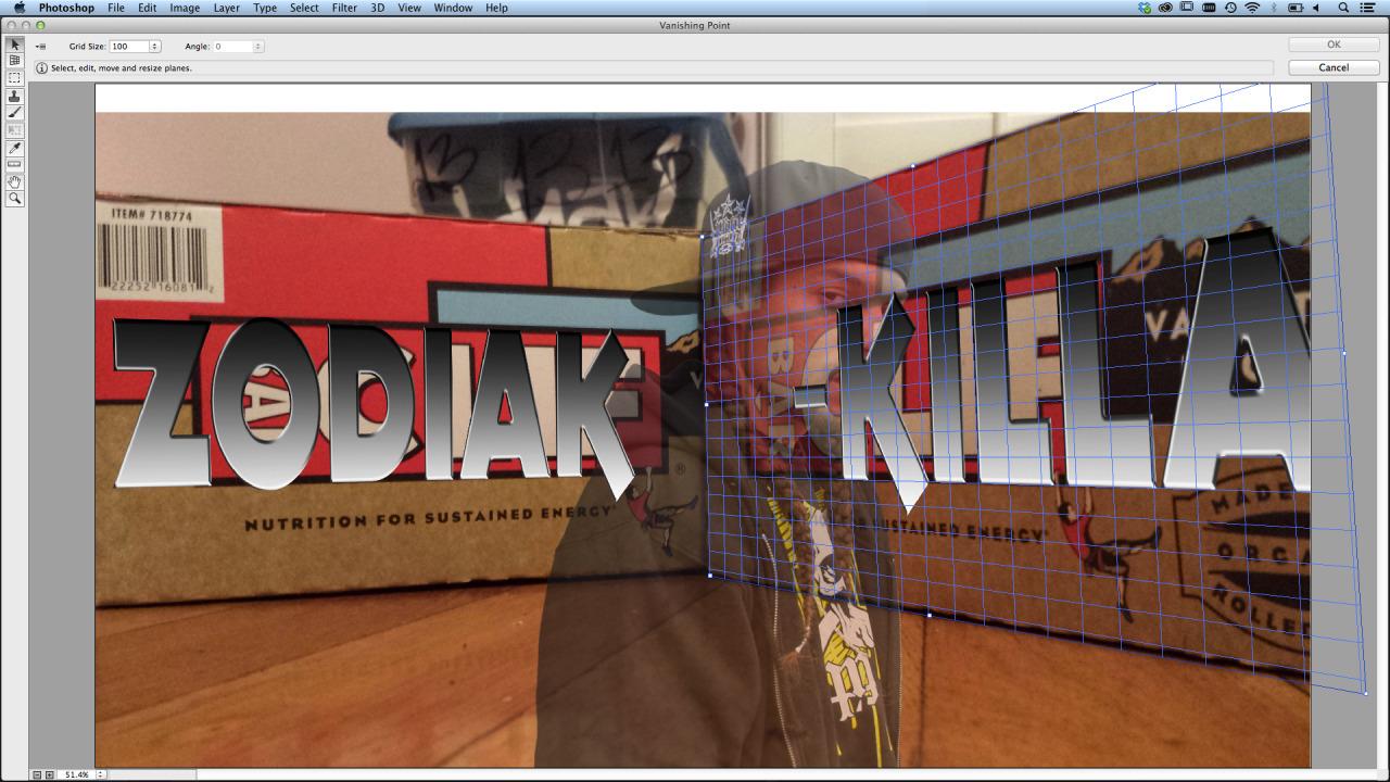 Adobe Photoshop CC Vanishing Point Filter Cliff Bars