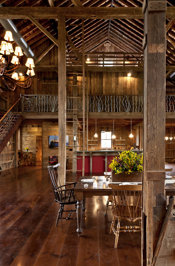 Ladder Rustic Architecture Warm Interior Design Living