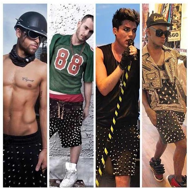 Who wore it best @johnnysanford @devinschmevin @adamlambert @hellojonte   ? #JOKING lol. Join the club and get your own via @studmuffinnyc www.studmuffin-NYC.com