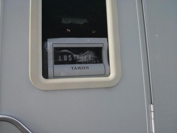 Tamsin's trailer on location